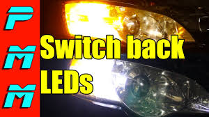 switchback led front turn signal marker bulbs vs oem incandescent