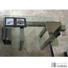 bureau en acier bureau de direction design en verre et inox brossé essentia mobilia