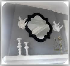interior home accessories ideas with quatrefoil mirror
