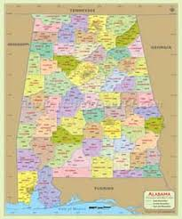 Counties In Alabama By Size Alabama County Map Alabama Counties