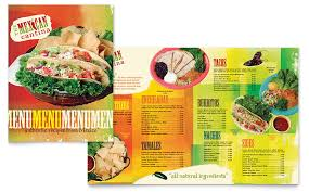 mexican restaurant menu template word u0026 publisher
