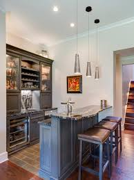 bar stools simple basement kitchen bar idea with small dining