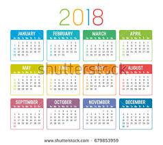 2018 Calendar Islamic Free Desktop Calendar 2018 With Soft Colour Template Illustration