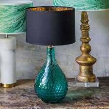 Glass Lamps Sea Green Honeycomb Glass Lamp Lighting Graham And Green