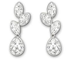 pierced earrings tranquility pierced earrings white rhodium plating jewelry