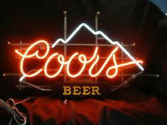 vintage coors light neon sign new coors light football sport beer real glass handmade neon sign 20