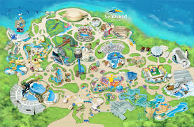 theme park u0026 attractions map seaworld san diego