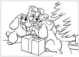 opening christmas presents coloring free printable coloring