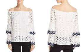 dressy white blouses the shoulder tops bloomingdale s