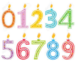 birthday candle happy birthday candle numbered birthday candles vector royalty