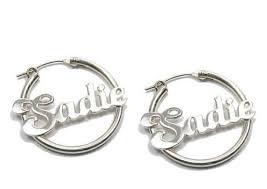Hoop Earrings With Name Best 25 Name Earrings Ideas On Pinterest Diy Name Earrings Diy