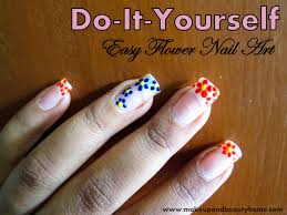 do it yourself easy flower nail art 6 easy steps makeup and