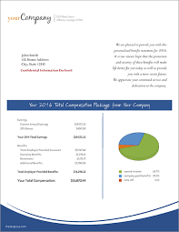 Total Compensation Statement Template by Portfolio The Cbc