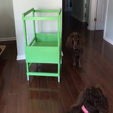 the lowcountry lady kitchen helper toddler stool painted in