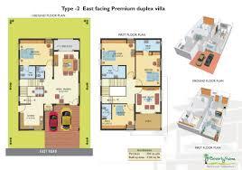 east facing duplex house floor plans east facing duplex house floor plans