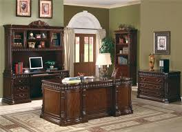 union hill double pedestal executive desk with leather insert top