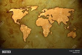 World Map Artwork by Aged World Map Vintage Artwork Stock Photo U0026 Stock Images Bigstock