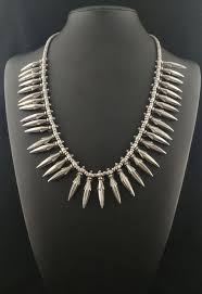 necklace silver india images Antique silver necklace himachal pradesh india early 20th jpg