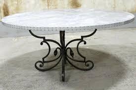 table base for round table round zinc table with cast iron base ecustomfinishes