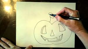 how to draw a halloween jack o lantern and cat youtube