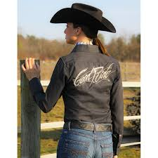 cowgirls fashions country style good ride ladies black