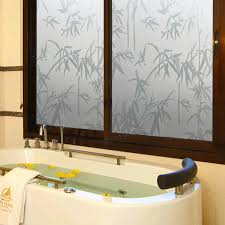 Bathtub Stickers 45x200cm Self Adhesive Waterproof Bamboo Pattern Frosted Bathroom