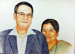 best hand painted color pencil sketch online portrait online