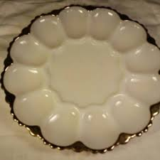 white deviled egg plate best glass egg platters products on wanelo