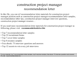 bunch ideas of writing a recommendation letter for project manager