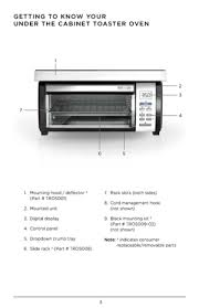 Under Cabinet Toaster Oven Mount Black And Decker Spacemaker Toaster Oven Tros1000d User Manual