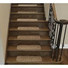 ottomanson soft solid non slip shag carpet camel stair tread stair