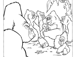 coloring page of gorilla gorillas coloring pages free inside gorilla page bookmontenegro me
