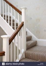 Banister House Brown And White Banister On Staircase Residential House