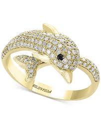 urban dolphin ring holder images Effy collection effy diamond dolphin ring 5 8 ct t w in 14k tif