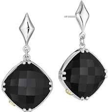 onyx earrings tacori 18k925 black onyx earrings se16719