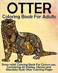 amazon otter coloring book adults stress relief coloring
