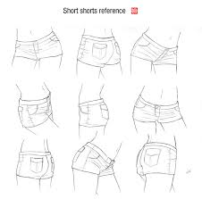how to draw study girls pants with folds for comic manga