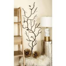 rustic gray iron branches and birds wall decor 58558 the home depot rustic gray iron branches and birds wall decor