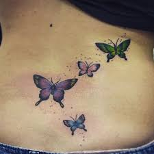 colored butterfly lower back blurmark