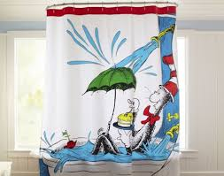 dr seuss shower curtain for kids bedroom ideas with white interior