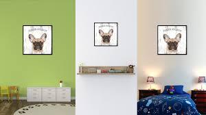 french bulldog dog wall art home decor frames office decoration