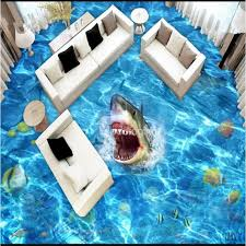 floors decor and more shark in the sea pattern waterproof splicing waterproof 3d