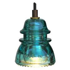Aqua Pendant Light Insulator Light Led Pendant Blue Green 120v 6w 500 Lumens
