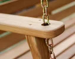 red cedar american classic porch swing
