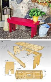 Diy Outdoor Bench Seat Plans by 174 Best Outdoor Furniture Plans Images On Pinterest Outdoor