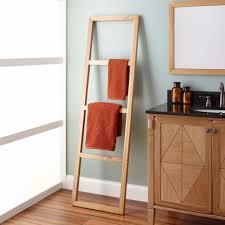 Ladder Shelving Unit Bamboo Ladder Shelf Amiphi Info