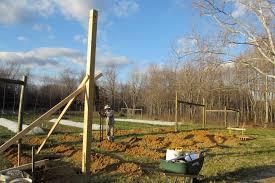 Setting Pole Barn Posts Pole Barn U2013 Sandyfoot Farm