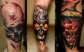 67 stylish skull tattoos for leg