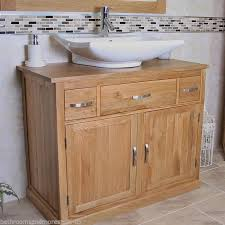 Bathroom Vanity Unit Oak Sink Cabinet Wash Basin Tap Option - Bathroom sink cabinet ebay