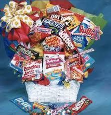 junk food gift baskets gourmet baskets floral arrangements bud flowers chickasaw
